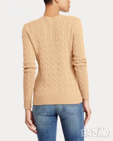 100% кашмир POLO RALPH LAUREN Cable-Knit Cashmere Sweater - р.М, снимка 7