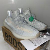"Adidas Yeezy Boost 350v2 ""Cloud White Reflective"" Обувки StockX+ Кутия"
