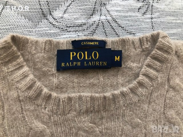 100% кашмир POLO RALPH LAUREN Cable-Knit Cashmere Sweater - р.М, снимка 11