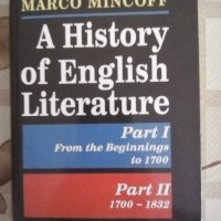 "A History of English Literature, Part I and II, Marco Minkoff, изд. къща ""Плеяда"""