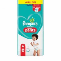 Pampers baby dry pants 4,6 налични