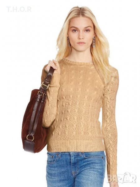 100% кашмир POLO RALPH LAUREN Cable-Knit Cashmere Sweater - р.М, снимка 1