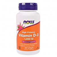 Now Foods Vitamin D3 1000 IU | Витамин Д3, 180 дражeта