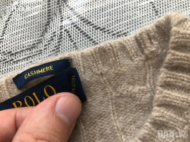 100% кашмир POLO RALPH LAUREN Cable-Knit Cashmere Sweater - р.М, снимка 12