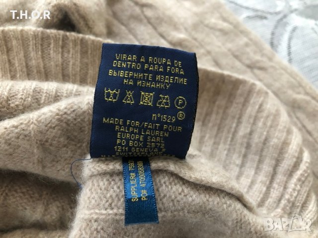 100% кашмир POLO RALPH LAUREN Cable-Knit Cashmere Sweater - р.М, снимка 14