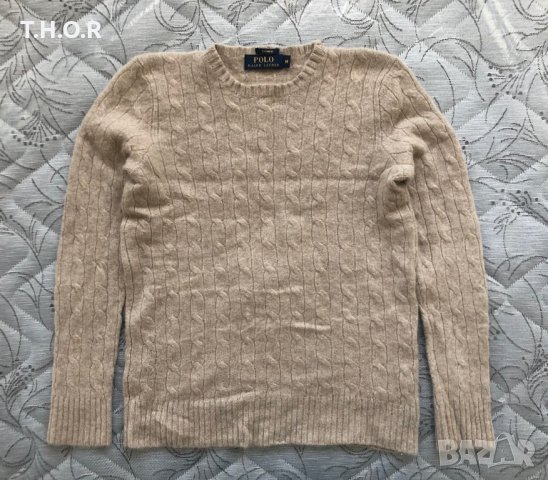 100% кашмир POLO RALPH LAUREN Cable-Knit Cashmere Sweater - р.М, снимка 15
