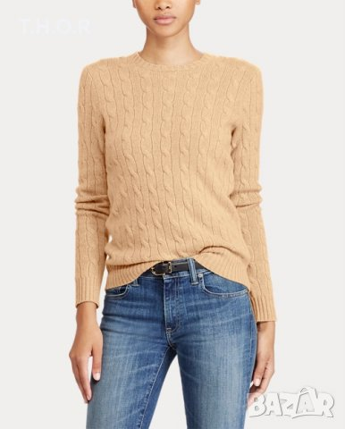 100% кашмир POLO RALPH LAUREN Cable-Knit Cashmere Sweater - р.М, снимка 6