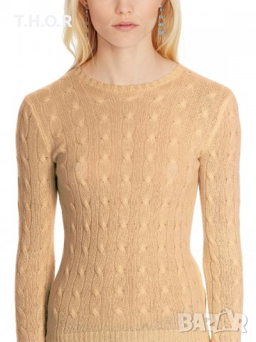 100% кашмир POLO RALPH LAUREN Cable-Knit Cashmere Sweater - р.М, снимка 2