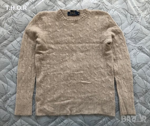 100% кашмир POLO RALPH LAUREN Cable-Knit Cashmere Sweater - р.М, снимка 9