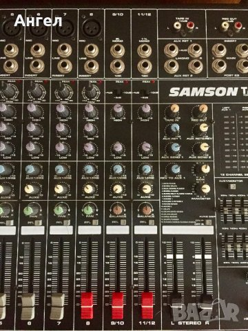 SAMSON TM500 - Стерео Powered Mixer 12 канала 500 w, снимка 5
