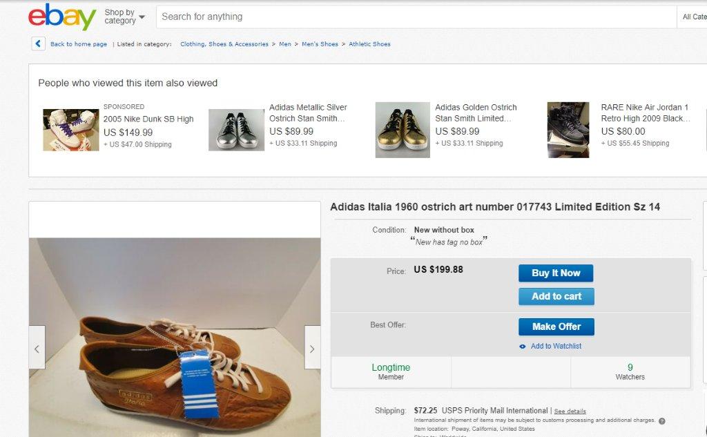 adidas italia ostrich